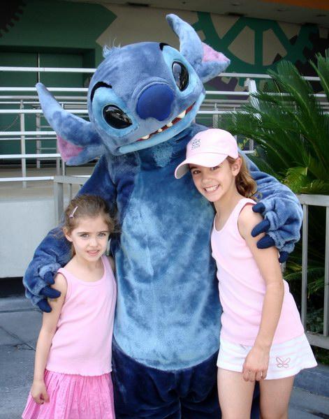 Sohpia and Emma with Stitch